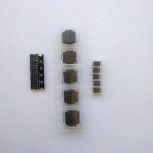 MT3608,. bobina de 22 uH y diodo Schottky